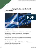 EU 'Sympathetic' Over Scotland