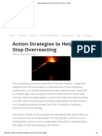 Action Strategies to Help You Stop Overreacting - Vitaflow