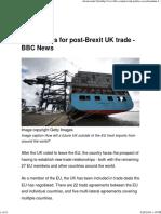 Five Models for Post-Brexit UK Trade
