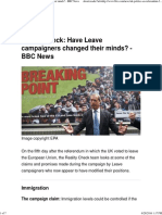 Have Leave Campaigners Changed Their Minds