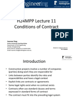 1415 H24MPP Lecture 11 - Conditions of Contract