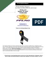 PFLAG Buffalo/Niagara July 2016 Newsletter