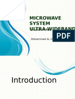 MICROWAVE SYSTEM ULTRA-WIDEBAND