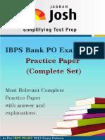 Ibps Bank Po Exam 2013 Practice Paper Complete Set PDF