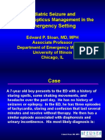 Pediatric Seizure and Status Epilepticus Management in the Emergency Setting.