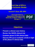 Clinical Use of tPA in Acute Ischemic Stroke Edward P. Sloan, MD, MPH Associate Professor Department of Emergency Medicine University of Illinois College of Medicine Chicago, IL - PowerPoi