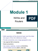 Wans and Routers