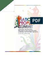 People's Agenda 2016