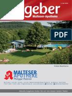 Ratgeber aus Ihrer Malteser-Apotheke – Juli 2016