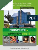 Prospecto de Admisión 2016 - II
