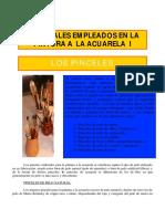 Materiales Empleados en La Acuarela_los Pinceles