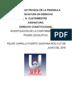 Conformacion Del Poder Legislativo