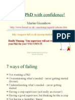 Fail Your PhD