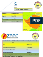 Solar Pv Renewable Energy projevt for ZAPC Pvt ltd  2016 seeks investors
