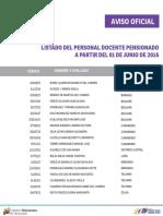 Listado Docente Pensionado - Junio 2016 - Notilogía