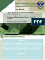 Historia de La Tabla Periodica de Los Elementos Quimicos Área Académica Química Paz María de Lourdes Cornejo Arteaga