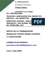 Datos Del Empleador