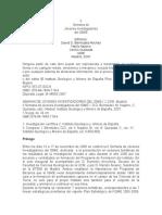 Modelo Geológico de Los Depositos Tipo IOCG (Iron Oxide-copper-gold) en La Zona de Ossa Morena (SW de España).