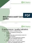 Biologics Data Entry