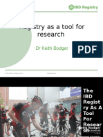 Registry as Research Tool