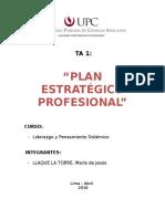 Plan estratégico profesional