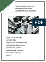 Informe de Materiales Tipos de Aceros