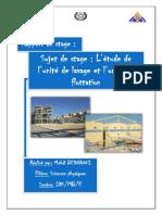 Rapport Stage - L'Étude de l'Unité de Lavage Et l'Unité de Flottation.