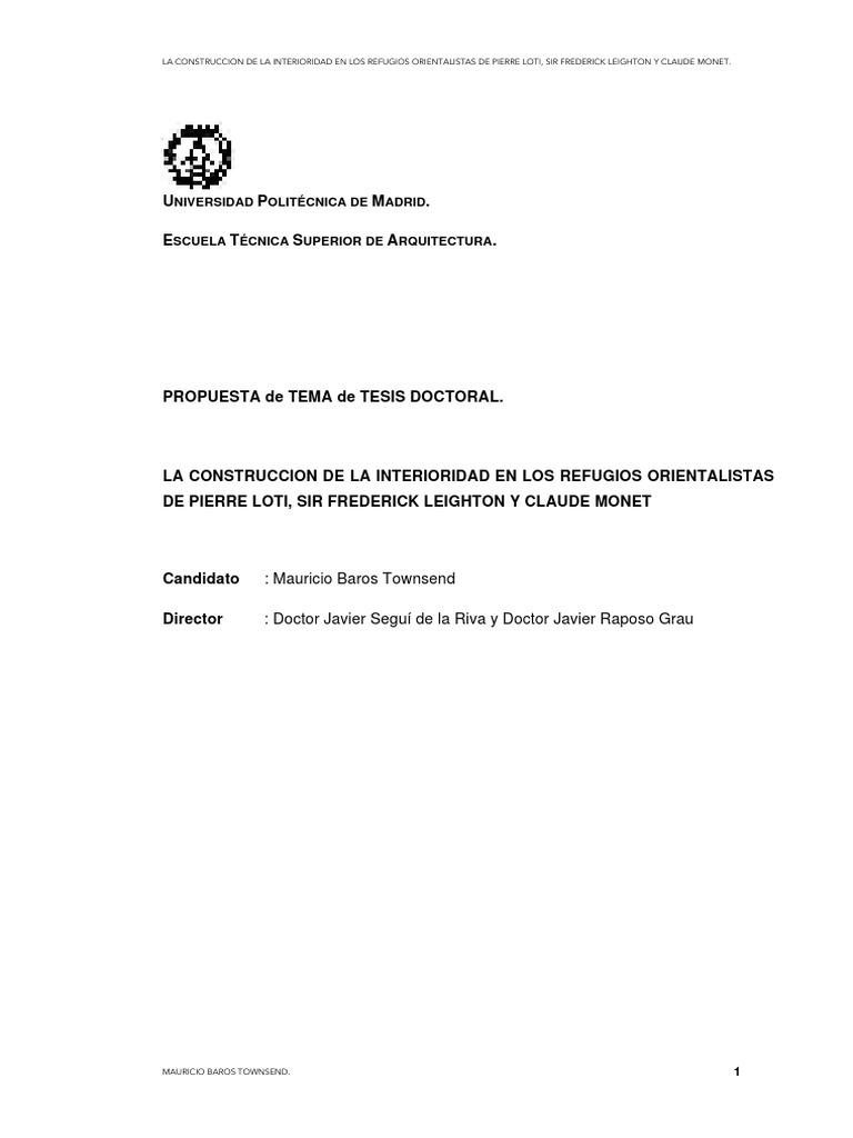 la construccin de la interioridad en el orientalismo arquitectnico los refugios orientalistas de pierre loti frederic leighton y claude monet spanish edition