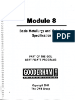 Module 8 Basic Metallurgy and Material Specification
