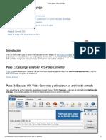 ¿Cómo Grabar Vídeo en DVD