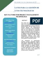Articulo_factores Claves Para La Gestión de Proyectos