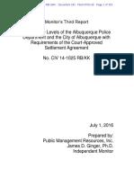 Monitor of Albuquerque police department