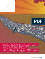 Digital Communications and Social Media the Challenges Facing the PR Industry