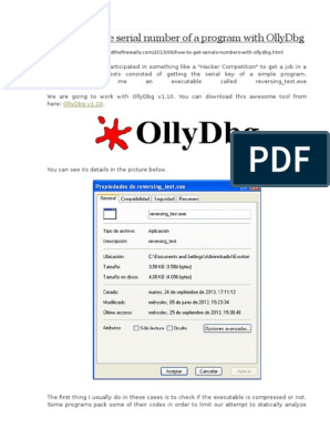 How to Get the Serial Number of a Program With OllyDbg