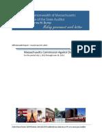 Audit Report - Massachusetts Commission Against Discrimination