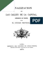 Canalizacion Calles Lima 1876