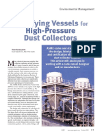 Vessels for high pressure dust collectors
