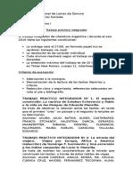 Tp Integrador Literatura Argentina I 2016