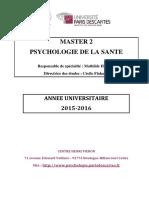 Brochure M2 Santé 2015-2016