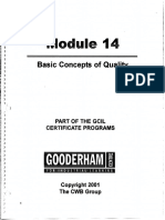 Module 14 Basic Concepts of Quality