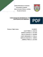 Casos de Delitos Informaticos y Fraudes Electronicos en Venezuela.