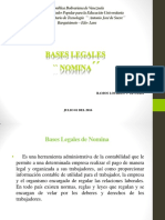 Bases Legales ``Nomina´´