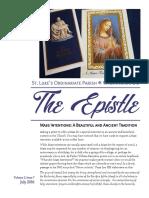 Epistle July 2016