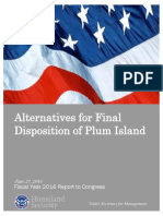 Alternatives for Final Disposition of Plum Island