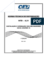 ntd  4.21 - instalao e operao de religador automtico nova cooper power sistems - 15kv e 34.5kv.pdf