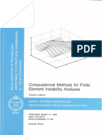 Computational Methods for Finite Element Instability Analyses