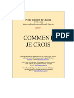 Pierre Teilhard de Chardin. Comment Je Crois (Tomme X)