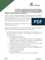 Limitacion Tiempos de Vuelo Resolucion AESA