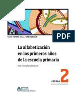 La Alfabetización en Los Primeros Años de La Escuela Primaria-Mirta Torres