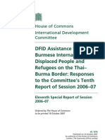 DFID 2006-7 - Assistance to Burmese IDP and Regufee on the Thai-Burma Border